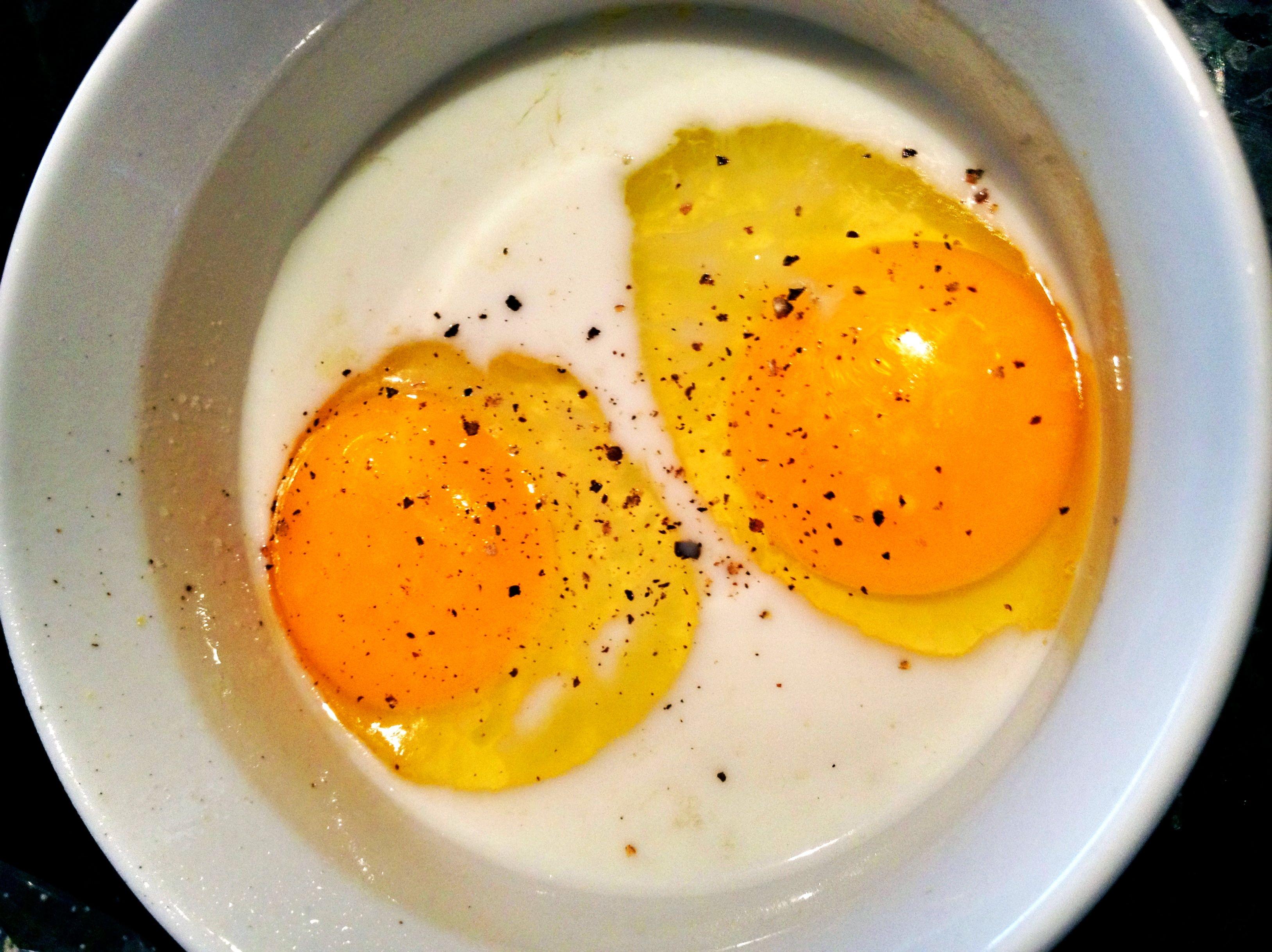 Eggs en Cocotte (Baked Eggs in a Ramekin) | Tina Evans